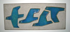 Soholm flying birds plaque (twenty21) Tags: denmark danish pottery danmark wallplaque stentoj soholm