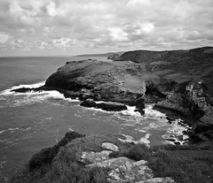 Tintagel (Jonathan Woods Photography) Tags: uk sunset seascape yellow cornwall large filter 4x5 lf format largeformat tintagel 5x4 shenhao adox chs25 hzx45iia