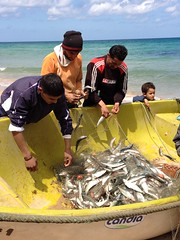 fishermen and boy (elmina) Tags:
