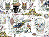 Pattern TEQUILA (. ♦ F L F ♦ .) Tags: cloud bird eye art hat rain paper boat pattern pyramid stripes acid chuva tequila owl coruja noite olho boné hook psychedelic arvore nuvem graffit desenho nigth passaro grafite piramide listras acido losango anzol padronagem franciscofreitas