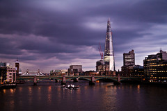 Moody London (Paki Nuttah) Tags: life city uk bridge england london tower thames architecture skyscraper buildings river landscape europe moody cityscape cloudy gb shard spiritofphotography flickrtravelaward