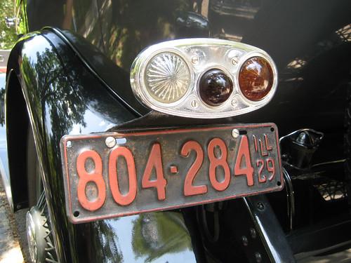 1929 Packard 8 626 Sedan tailight