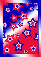 Happy Fourth Of July (merripat) Tags: blue red white abstract digital photoshop stars happy star design july patriotic designs fourth happyfourthofjuly of