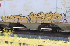 Guts Demos (A & P Bench) Tags: art train graffiti fan artwork bath steel rail railway graff freight salts benching