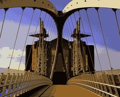 Millennium bridge (perseverando) Tags: bridge salfordquays millennium posterized perseverando