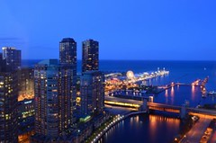 Chicago Cityfront with Lake Michigan & Chicago Lighthouse & River at dusk (Sir Francis Canker Photography ) Tags: trip blue sunset usa lighthouse lake chicago reflection building tower water skyline night america skyscraper landscape lago illinois amazing cityscape waterfront view dusk michigan gorgeous horizon president landmark visit icon eua vista magnificent mile rascacielos magnificentmile