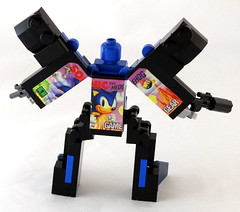 Supersonic - rear (Baron Julius von Brunk) Tags: nyc lego sonic transformers legos sega hedgehog genesis knuckles moc gamegear brothersbrick baronvonbrunk juliusvonbrunk