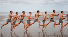 Ken in Motion (HE~GOES) Tags: man motion male men guy beach muscles model exposure exercise many ken playa running devo multiple fitness runner fit stampede thebestofday gnneniyisi