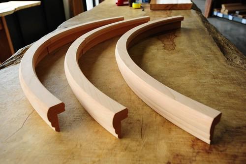 custom radius bar rail molding by hardwoods inc