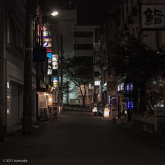 I went bar hopping. (kumuaka) Tags: street city urban building japan architecture night tokyo streetlight asia general shibuya dslr ze eos5dm2