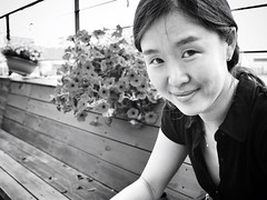BoBae (nabruneau) Tags: portrait blackandwhite olympus seoul southkorea u43