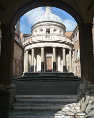Bramante's Tempietto through gate