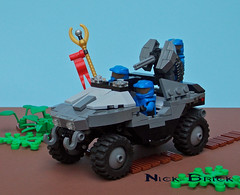 Warthog (Nick Brick) Tags: 2 3 gun lego machine halo reach fav combat hog m12 spartan evolved warthog gauss lrv unsc brickarms odst brickforge nickbrick