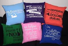 Almohadones frases varias (Lady Krizia) Tags: pillow stereo soda frases vinilo personalizado wilwarin estampado almohadon termoestampado