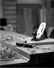 Caffenol test (australianphotographer) Tags: wood bw film pine woodwork plan stanley 4x5 chisel largeformat workbench handtools joinery caffenol fomapan sekonicl758dr 8x10to4x5