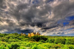 A Rains a gonna fall (Tony Shertila) Tags: england sky storm weather clouds europe day view cloudy britain scenic greystones vista hdr sunderland countydurham stmarythevirgin greenhdr oltusfotos
