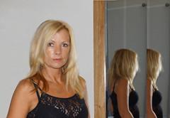 mirror 1 (joewest2) Tags: reflection liverpool mirror shy beautifulwomanbeautifulwomenpretty