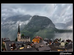 Rain Drenched Hallstatt:  Explore at #189 on Fluidr August 11, 2012 (oar_square) Tags: travel lake castle church water austria cloudy unescoworldheritagesite rainy osterreich hallstatt