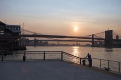 sunup (Several seconds) Tags: nyc morning newyork brooklyn sunrise pier manhattan glory williamsburg 3bridges