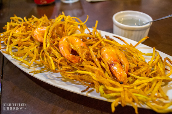 Shrimp Okoy from Binulo Restaurant in Pampanga