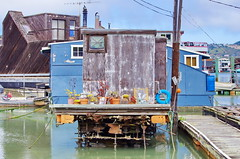 Sausalito the Houseboats 41 some are in better shape than others (paspog) Tags: sanfrancisco california usa unitedstatesofamerica boathouse sausalito houseboats