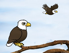 Birdorable Bald Eagles (birdorable) Tags: cute bird eagle baldeagle bald raptor birdofprey birdorable