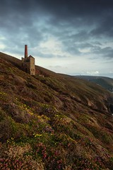 Change in the weather  [Explored] (Martin Mattocks (mjm383)) Tags: sky seascape colour reflection clouds landscape cornwall heather enginehouse whealcoates canoneos5dmarkii cornwalllandscapes mjm383 martinmattocksphotography