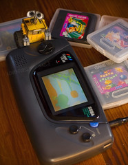 Retro gaming. (CraniumCommand) Tags: disney pixar sega 90s gamegear walle toyphotography adventureswithwalle walletoy walle365 walle366