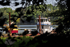 Rollin' on the River (BKHagar *Kim*) Tags: river boat al crane alabama athens tug barge elkriver bkhagar