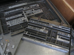 Swapping forms (Elwyn Brooks) Tags: printing type letterpress broadside typeform