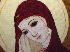icon-embroidery2 (Ranaet) Tags: portrait art church face lady god embroidery faith mary religion mother icon holy virgin christianity orthodox   pochaev sanctity