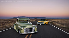 GarciaHeartBeat (Lunchbox PhotoWorks) Tags: new sunset baby moon mountain green classic chevrolet 1969 up car yellow truck mexico volcano evening nikon iron pin ride air culture albuquerque tokina chevy chrome cap american abq rockabilly bags d200 lunchbox pick nm 1500 lowered dropped v8 kar visor 1949 billet 505 sandia 1224 manfrotto slammed fleetside specialties 575 stepside c10 photoworks kulture