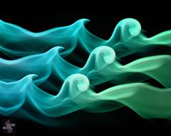 Riding the Waves (Smoke Photo Art #612) (Psycho_Babble) Tags: abstract waves smoke incense smokeart smokephotography smokephoto smokemanipulation creativesmoke smokewaves