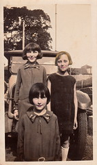 The girls (1930) (pellethepoet) Tags: girls portrait car fashion kids children automobile kodak snapshot australia photograph