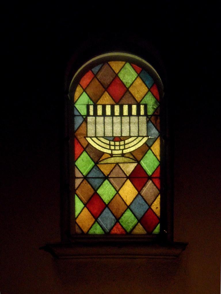 Vintage Buntglasfenster