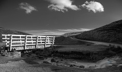 IMGP0207.jpg (Johnbasil1) Tags: bridge bw cloud white water stream bright pentax yorkshire hill splash