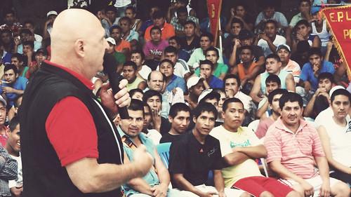 Michael Preaching in Prison in Peru