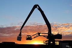 Dowload (DiegoEncinas) Tags: puerto atardecer cielo puestadesol grua descarga carga transportar diegoencinas