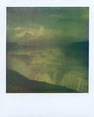 Like A Rainbow (Bastiank80) Tags: camera color film nature analog polaroid sx70 waterfall iceland rainbow like august integral land instant expired gullfoss atz 2013 bastiank
