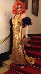Gloria in the theater (Gloria Vulcano) Tags: drag gold theater crossdressing tgirl transgender transvestite gown dragqueen diva crossdresser crossdress travestie travestiet