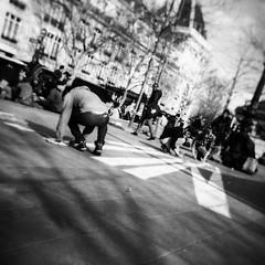 Nuit debout (aurel942014) Tags: street blackandwhite bw paris 120 6x6 holga place noiretblanc chevalier rpublique nuit argentique aurelien debout lomographie