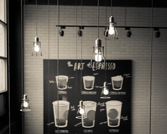 Coffee House (Kevtsui) Tags: travel light blackandwhite bw holiday travelling coffee lamp relax cafe south taiwan coffeehouse  starbuck trave