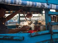 Pho by the river (grapfapan) Tags: kitchen soup boat market vietnam mekongdelta mekong