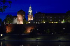 Wawel Royal Castle, Krakow (jacques_teller) Tags: lighting castle heritage nikon royal poland krakow wawel nightscene bluehour cracovie pologne nikonian nikonistas worldheritagecities d7200