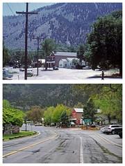 Genoa, Nevada in 1972 and 2016 (tonopah06) Tags: downtown nevada nv genoa 1972 ponyexpress carsonvalley 2016
