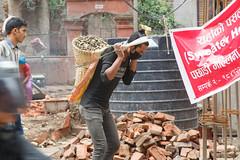 Earthquake Cleanup (Mark S Weaver) Tags: kathmandu patan nepa