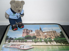 Sum ole church (pefkosmad) Tags: bear ted paris church toy stuffed soft exterior cathedral teddy fluffy hobby plush notredame puzzle leisure jigsaw complete pastime 1000pieces tedricstudmuffin