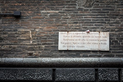 Garisenda e Dante (silwolf) Tags: street city travel sky urban italy tourism church photography casa nikon strada italia chiesa cielo bologna lucio citt dalla d7100