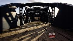 Black bridge, Leith (smcneem) Tags: bridge edinburgh leith lowsun