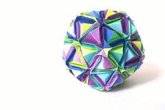 Japanese Brocade (C5Origami) Tags: origami squares paperfolding modularorigami minakoishibashi sonobevariation 90units